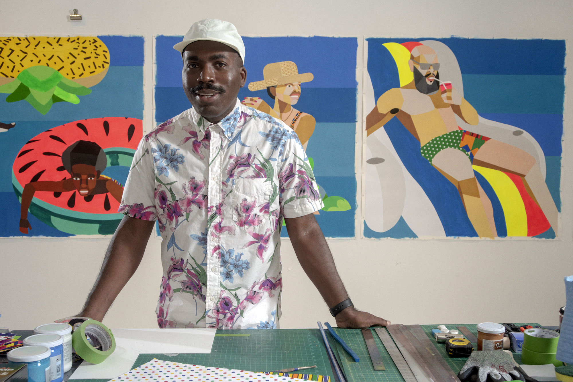 Derrick Adams on Opening a Solo Show, Working on a Big Commission, and  Surviving Coronavirus