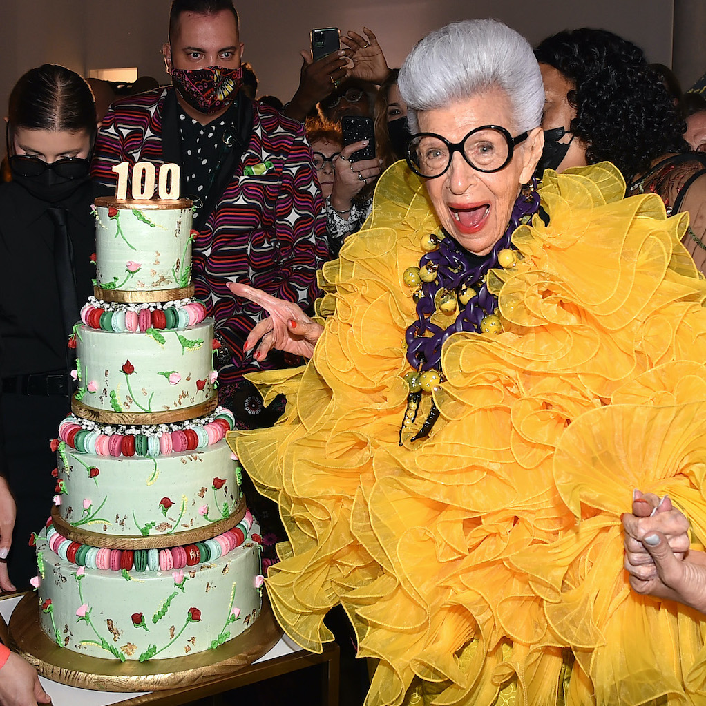 Iris Apfel Celebrates 100th Birthday With her Most Fashionable Friends